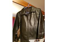 Black leather jacket age 7 -8
