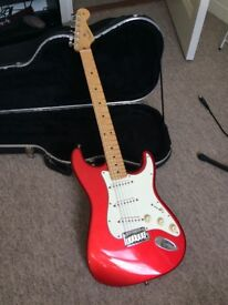 Fender American Standard Stratocaster 2004 Chrome Red (50th Anniversary Edition)