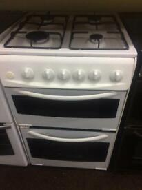White 55cm gas cooker grill & oven good condition with guarantee bargain
