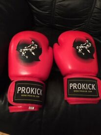 Pro kick red boxing gloves