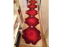 RUG vintage retro FLOWER RYA? 60s 70s mid century runner carpet long desso DANISH heals habitat