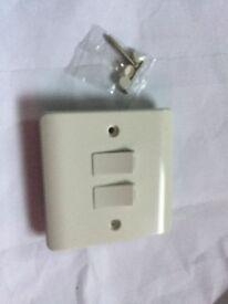 Standard white 2 gang light switch