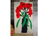 VINTAGE PICTURE RED POPPY