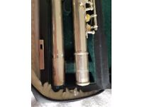 Lovely condition Pearl silver flute PF-665