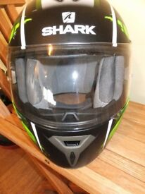 Hardly used Shark helmet