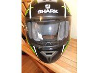 Hardly used Shark helmet