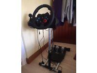 LOGITECH Driving Force G29 Racing Wheel + LOGITECH Driving Force Shifter + Wheelstand Pro