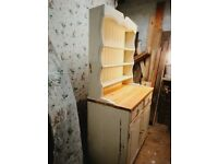 Pine dresser with very shabby chic paint. Solid