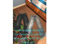 """Genuine G-Star Jeans. Fantastic condition and hardly worn. Waist 26"""" and length 32"""""""