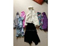 Girl age 4/5 dresses and bear Gillet next and tu