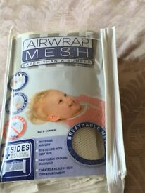 Baby's Safety Mesh Cot Bumper by Airwrap as new only used twice