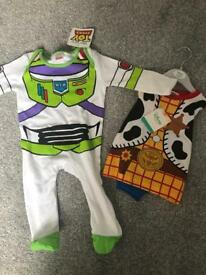 BNWT Buzz & woody baby suits