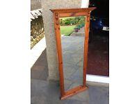 Ducal Rosendale pine wall mirror.