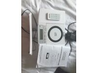 Denver CD player with alarm clock radio