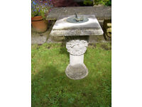 Garden sundial,stone, vgc,Collection only from Llanelli area S, Wales.
