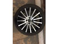 "17"" wolfrace alloy wheels with tyres"