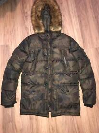 Camo Puffer Parka Jacket