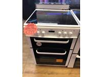 BUSH 60CM CEROMIC TOP ELECTRIC COOKER IN WHITE