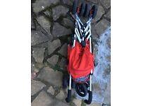 Mothercare Red Nulo stroller. Excellent condition, Comes with unused rain cover.