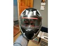Leopard size small motorbike helmet