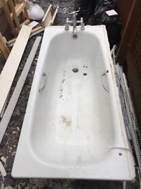 Steel bath in need of a new coat of enamel.