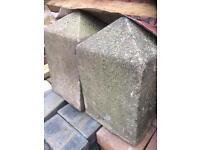 Concrete corner stones
