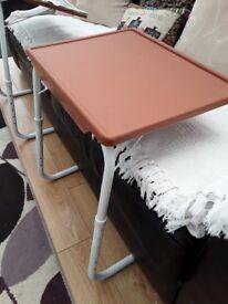 2 X FOLD AWAY / ADJUSTABLE TABLES