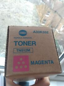 Genuine Konica Minolta Toner Cartridge Magenta TN512M A33K352