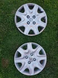 2 x Peugeot wheel trims