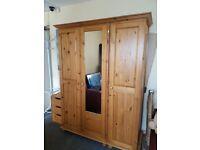 3 doors pine wardrobe