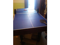 3 In 1 Combo Table Pool/Table Tennis/Table