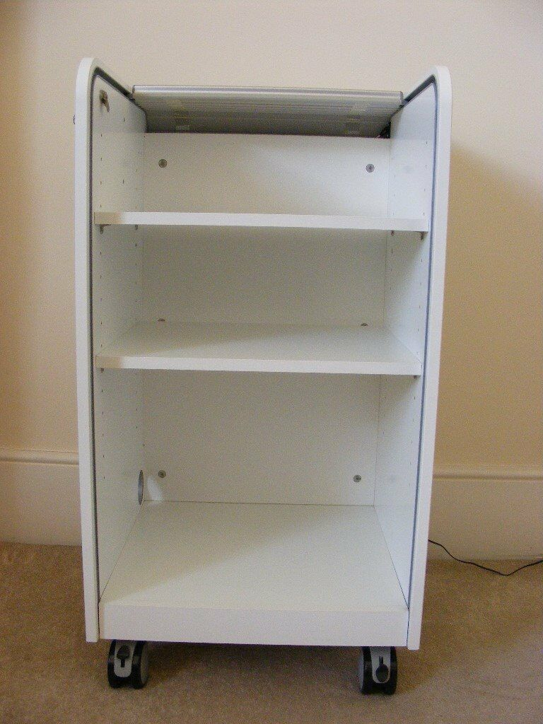 Ikea Aspvik Roll Front Lockable Filing Cabinet With