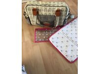 Pink Lining/Yummy Mummy changing bag in owl print