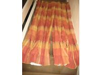 Pair of Corsica Lined Pencil Pleat Terracotta Lined Curtains by NEXT
