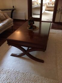 Solid hand made coffee table was £1800. Quick sale £350 fab condition