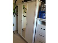 Matching Wardrobe and chest of drawers for sale. Collection from Blackheath only.