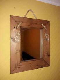 Framed hanging mirror