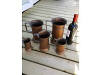 French copper tankards