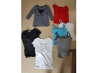 4 tops and 3 vests all size 10 with discreet openings for breastfeeding