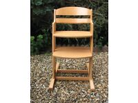 NEED EXTRA SEATING THIS CHRISTMAS? TWO WOODEN HIGH CHAIRS AVAILABLE!