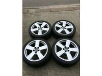 GENUINE AUDI 18 INCH ALLOY WHEELS 5X112 A3 A4 A5 A6 VW GOLF VW TRANSPORTER T4