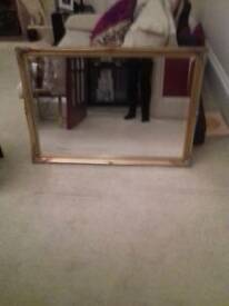 Gold framed mirror for sale