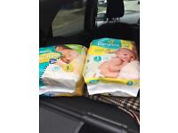 New pampers nappies