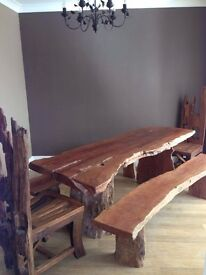 Solid Driftwood Dining Table