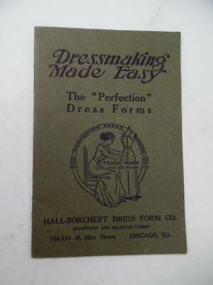 C.1912 Hall Borchert Dress Form Co. Catalog Dressmaking Made Easy Antique Sewing