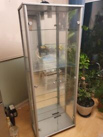Free light up glass display cabinet