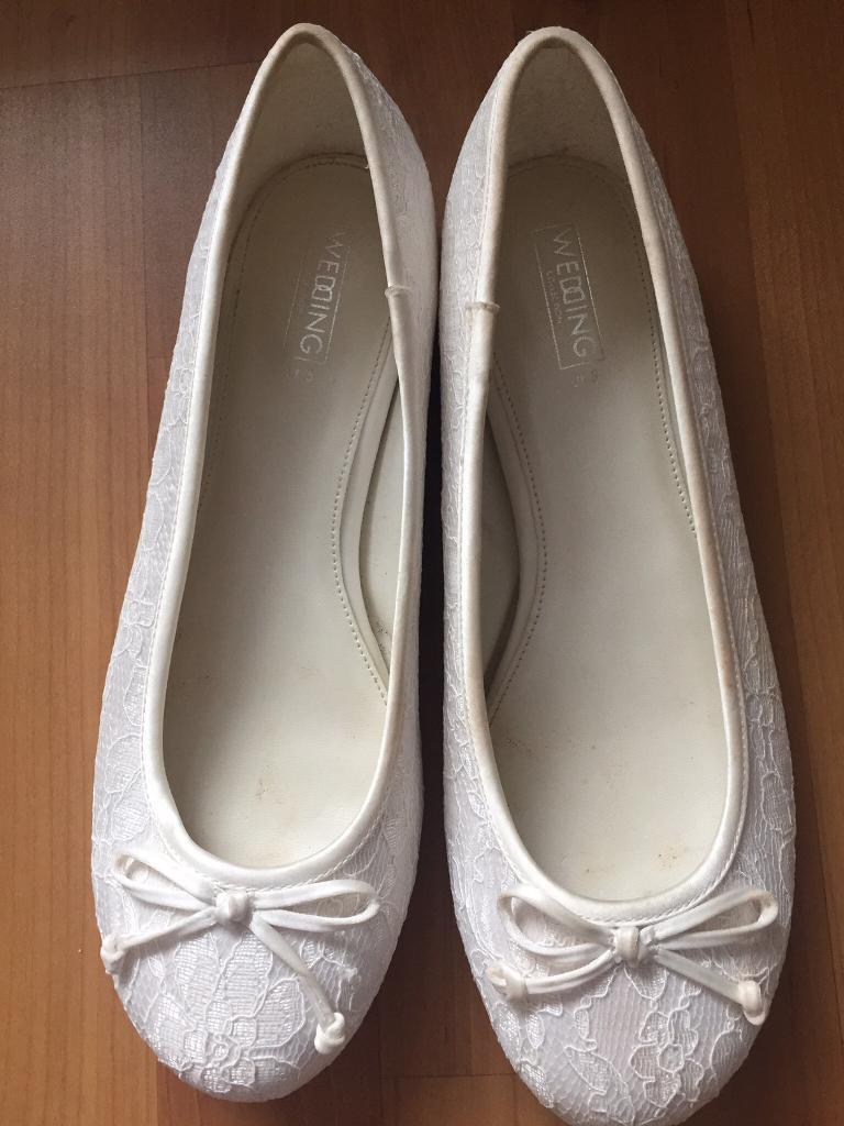 8375cac53d4 Wedding flat shoes size 5 with memory foam