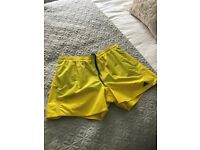 Adidas Yellow Swim Shorts, size L - £10