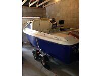 Shetland 460 fishing/pleasure boat, 30 HP Johnson outboard and Trailer