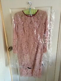 Boden Champagne Lace Dress